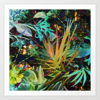 jungle Art Prints featuring jungle by clemm