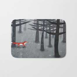 The Fox and the Forest Bath Mat