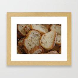 Artisan Bread Slices Framed Art Print