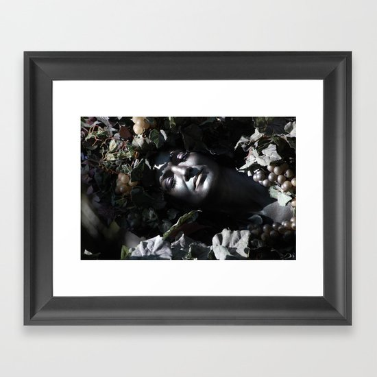 Wood Woman Framed Art Print