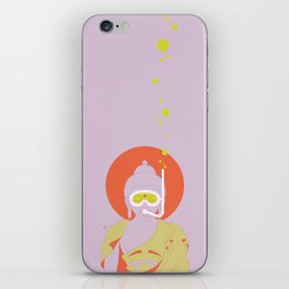 Buddha : Take A Deep Breath! (PopArtVersion) iPhone Skin