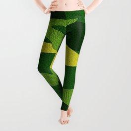 A Green Camo (camouflage) Design Leggings