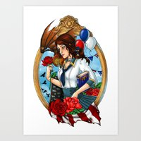 bioshock Art Prints featuring BioShock Infinite by Little Lost Forest