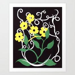 Paper Dasies Art Print