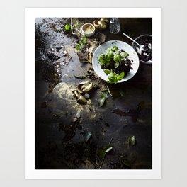 Gold Garden Art Print
