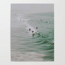 lets surf iv / venice beach, california Poster