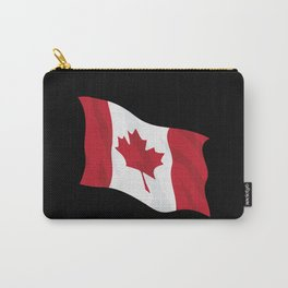 Canada Flag Waving Illustration Carry-All Pouch
