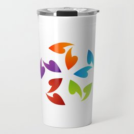 Abstract flora- colorful flower Travel Mug
