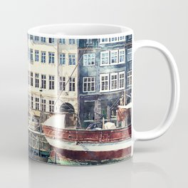 Copenhagen, Nyhavn harbor famous landmark and entertainment district Coffee Mug