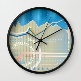 financial background Wall Clock