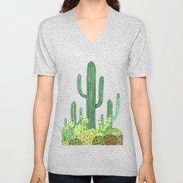 Cactus Desert Unisex V-Neck