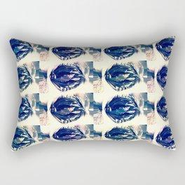 blue circles pattern Rectangular Pillow