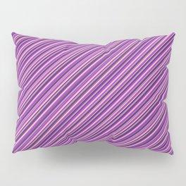 Lilac Purple Violet Inclined Stripes Pillow Sham