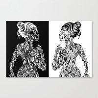 maori Canvas Prints featuring Maori Sides by SarinneG