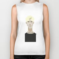 ryan gosling Biker Tanks featuring Ryan Gosling (The place beyond the pines) by Bady Church