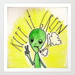 Keep it Green Art Print