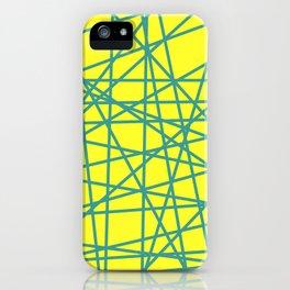 yellow random fun iPhone Case