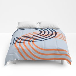 Counterbalance - orange blue Comforters