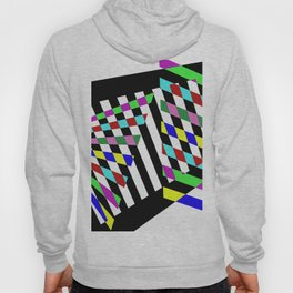 Lost Dimension - Abstract 3D style, multicoloured, geometric artwork Hoody