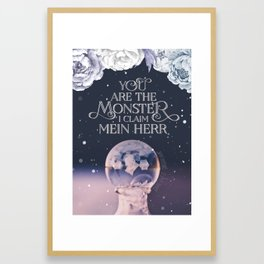 Wintersong - You are the monster I claim Framed Art Print