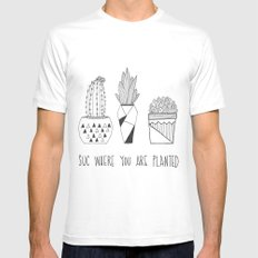 suc where you are planted MEDIUM White Mens Fitted Tee