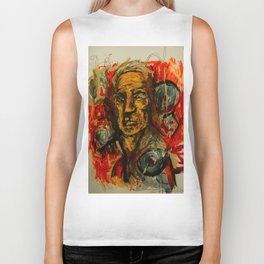 The Old Man abstract painting Biker Tank