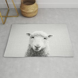 Sheep - Black & White Rug