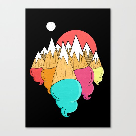 Ice-cream mounts Canvas Print