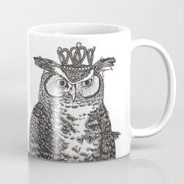 Great Horned Owl Wearing a Glittering Crown Coffee Mug