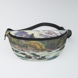 Mountains Forest Rocky River Fanny Pack