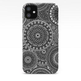 Dot Art Circles Grayscale iPhone Case