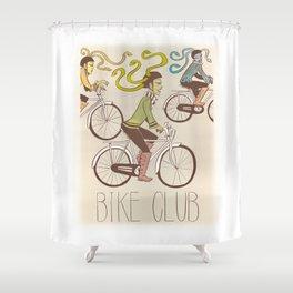 Three Furies Bike Club Shower Curtain