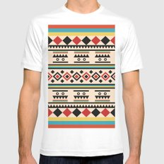 TRIBAL PATTERN Mens Fitted Tee MEDIUM White