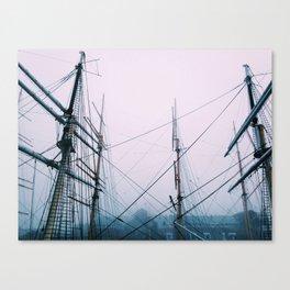 Foggy Sails Canvas Print