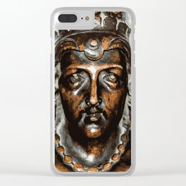 Carved Face Clear iPhone Case