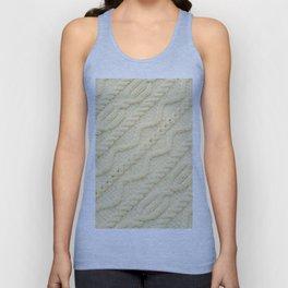 Cream Cableknit Sweater Unisex Tank Top