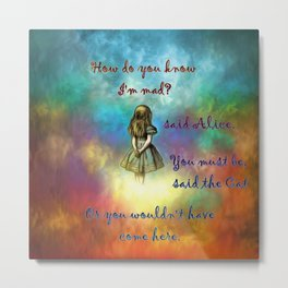 Wonderland Time - Alice In Wonderland Quote Metal Print