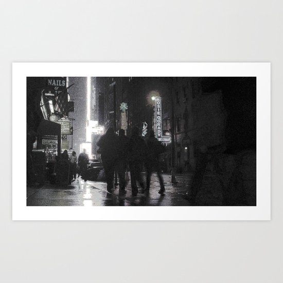 NYC By Times Square 2 Art Print