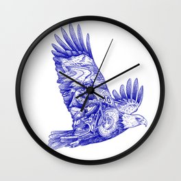 Eagle Rider Wall Clock