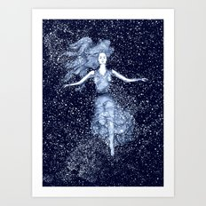 Starlight Swimmer Art Print