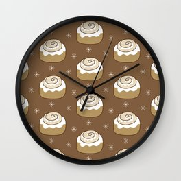 Cinnamon Bun Wall Clock