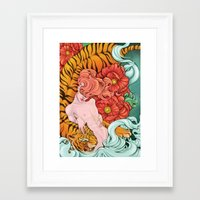fierce Framed Art Prints featuring Fierce by Kate Mana