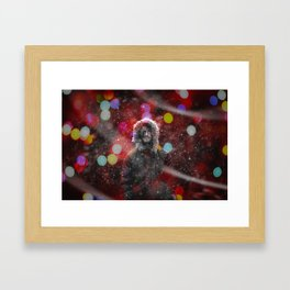 color snow Framed Art Print