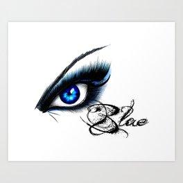 MADAME BLUE Art Print