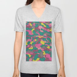 Jewel Tone Abstract Unisex V-Neck