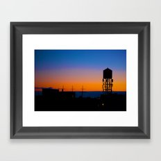 NYC Sundown Framed Art Print
