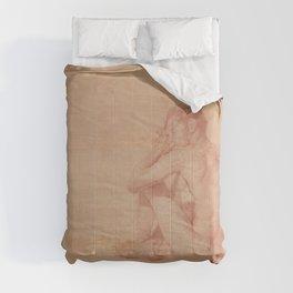 Male Nude Classic Figure Drawing Zen Peaceful Meditation Comforters