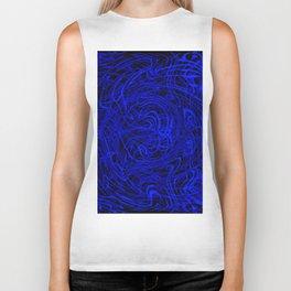 blue swirls Biker Tank
