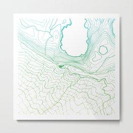 Secret places II - handmade green map Metal Print
