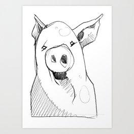 DSA - THE PIG Art Print